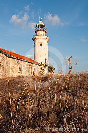 Free Old Lighthouse Of Paphos Stock Photography - 24372512