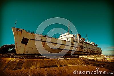 Old liner ship retired