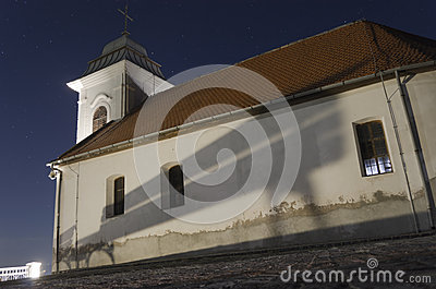 Old little church on night