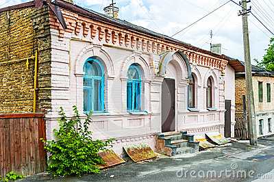 Old Little Houses in Kiev Editorial Image
