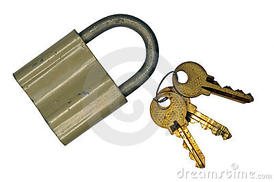 The old lock and keys