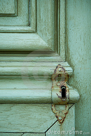 Free Old Locked Door Stock Photography - 14761302