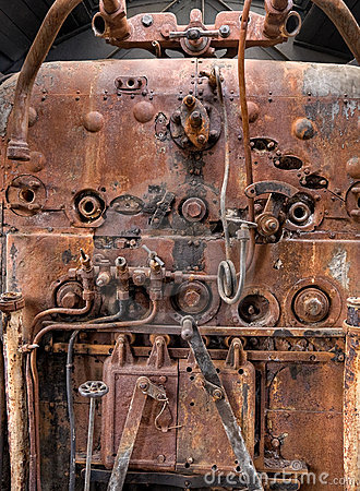 Old locomotive boiler