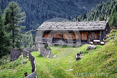 Old Log Cabin Stock Photo Image 45212540