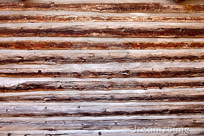 Old log cabin wood wall background