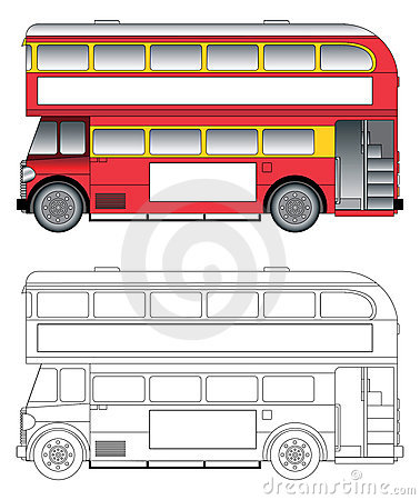 Old London Bus Vector Royalty Free Stock Image - Image ...