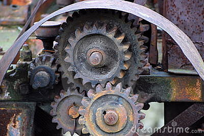 Old Machinery Gears