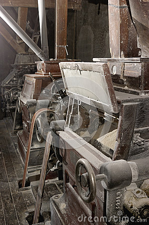 Old machinery of a mill