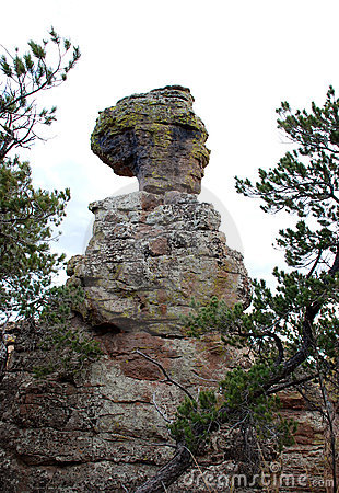 Old Maid rock in Chiricahua National Monument