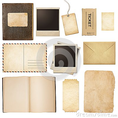 Free Old Mail, Paper, Book, Polaroid Frames, Stamp Royalty Free Stock Images - 46033539