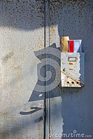 Old mailbox. Vintage background .