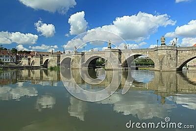 Old main bridge in Wurzburg
