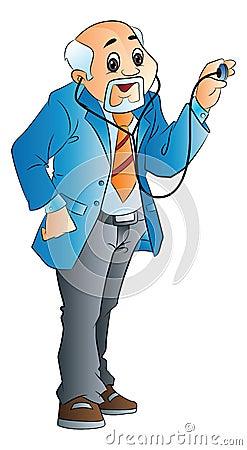 Old Male Doctor, illustration