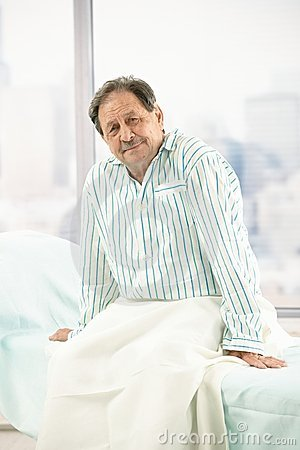 Free Old Male Patient In Hospital Royalty Free Stock Photography - 18076767