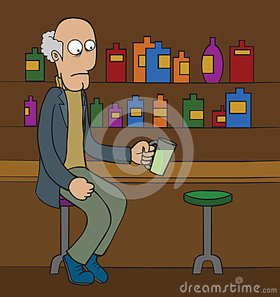 Old man at Bar