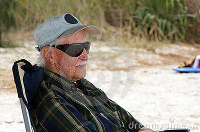 Old man by the beach