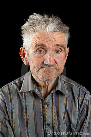 old man on black background stock photo image 8277890