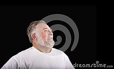 Old Man Grimacing