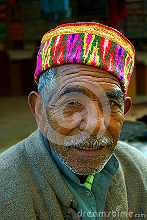 Old man of Himachal in India Editorial Stock Image