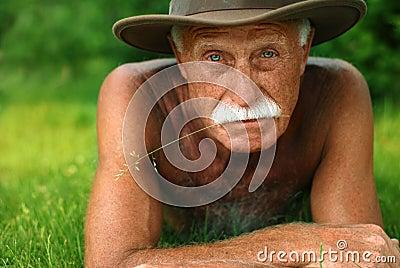 Old man on holidays