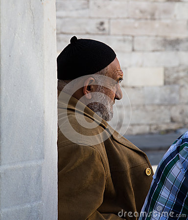 Old Man in Istanbul. Editorial Photo
