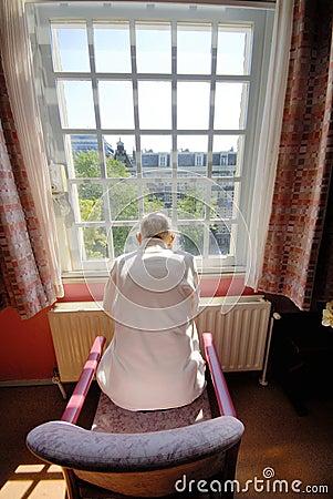 Old man in nursing home