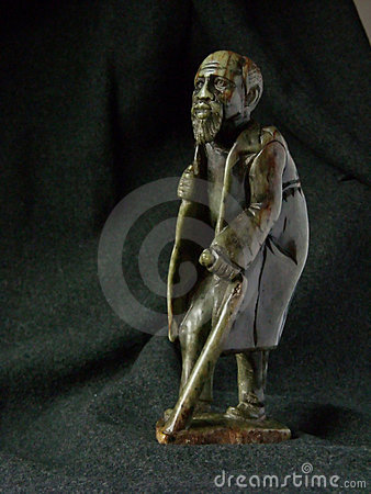 Free Old Man Sculpture Africa Royalty Free Stock Photo - 5241335