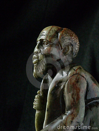 Free Old Man Sculpture Africa Stock Images - 5241374