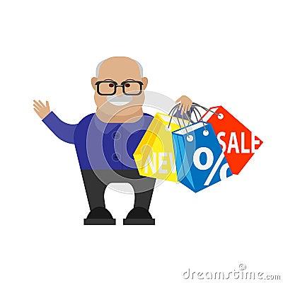 Old man shopping
