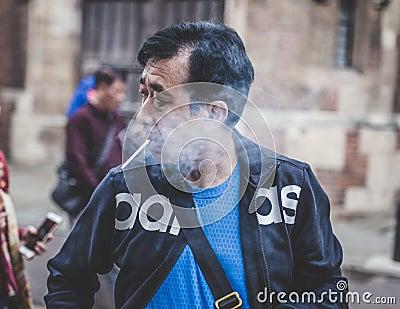 Old Man Smoking A Cigarette Free Public Domain Cc0 Image