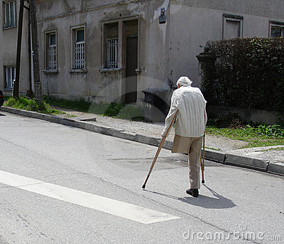 Old man on the street
