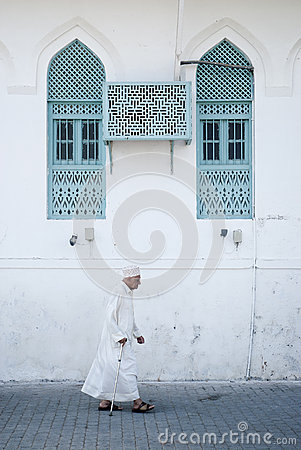 Old man in muscat oman Editorial Stock Image