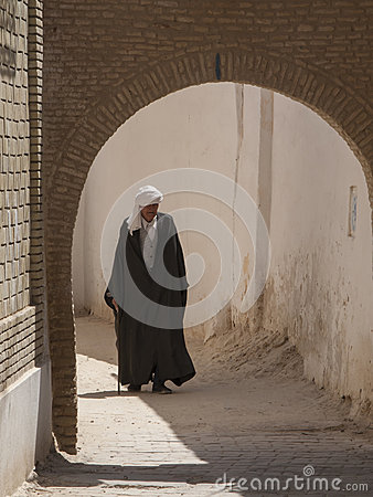 Old man in traditional dress, Tunisia Editorial Image