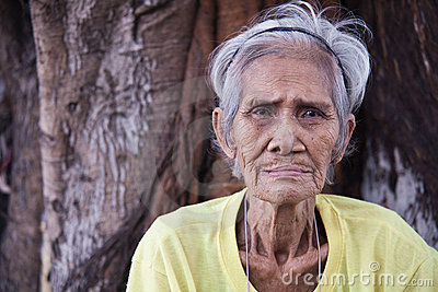 Old man and the tree - Philippines Editorial Stock Photo
