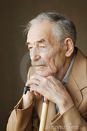 Free Old Man With Moustaches Stock Photography - 13667272