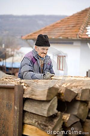 Old man at work