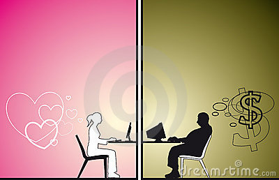 Old Man and young woman chat