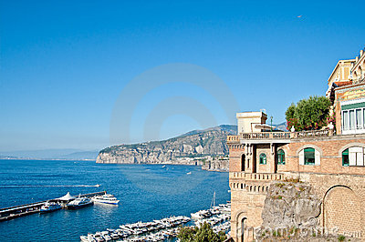 Old mansion on the amalfi coast