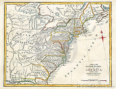 Old Map of America.