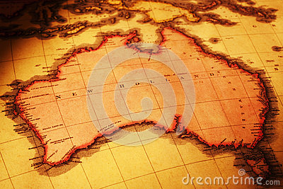 Old Map of Australia