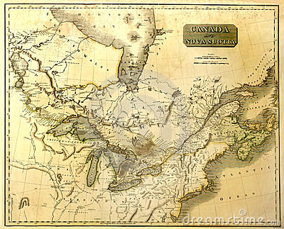 Old map of Eastern North America.