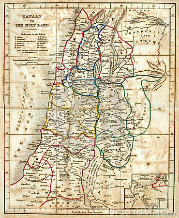 Free Old Map Of The Holy Land. Royalty Free Stock Photography - 11777717