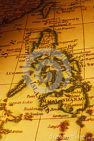 Old Map Philippines Islands