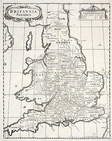Old map of saxon britain