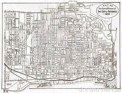Old Map of Toronto