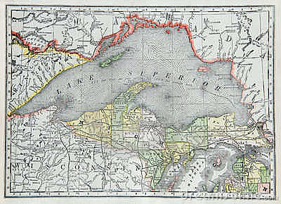 Old Map of Upper Michigan