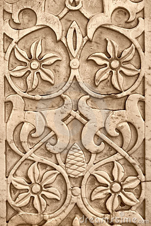 Old marble bas-relief