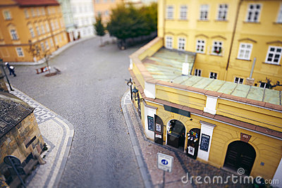 Old market square in Europe