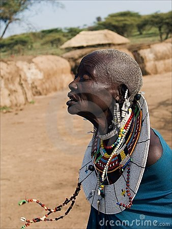 Old masai woman. Editorial Photography