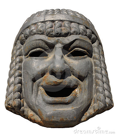 Old mask of a comedy